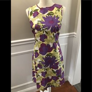 J Crew floral cotton sheath dress. Size 6. NWOT.